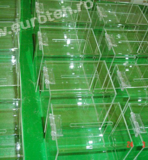 cutii donatie din plexiglas mici